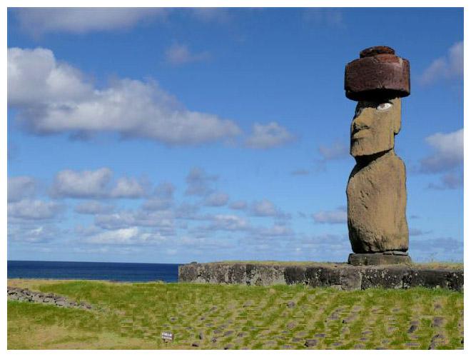 moai auf dem ahu kot te rika chilereise 2007 osterinsel guido und marlene. Black Bedroom Furniture Sets. Home Design Ideas