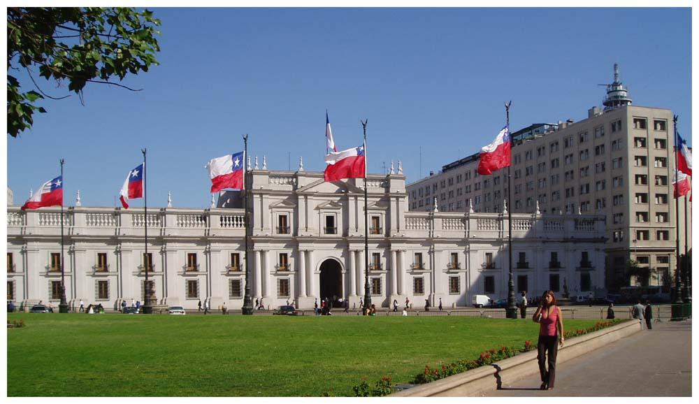 Chilereisen foto santiago de chile la moneda for Papeles murales en santiago de chile