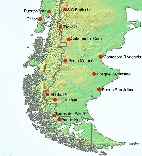Chile Patagonien Karte.Patagonienreise 2010 Fotos